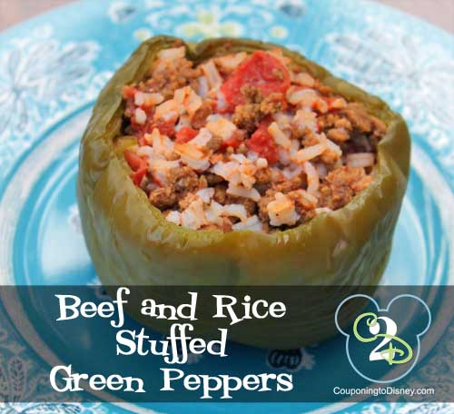 Beef and Rice Stuffed Green Pepper