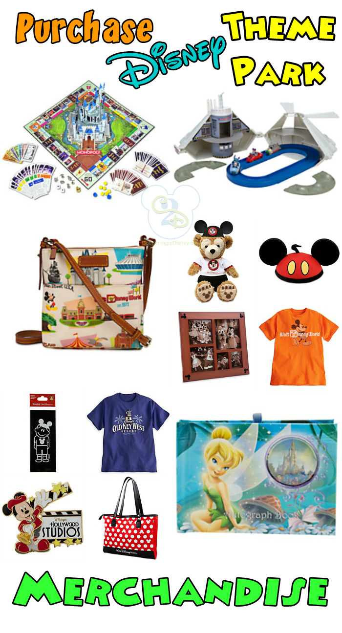 Purchase Disney Theme Park Merchandise