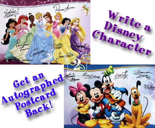 write a letter to disney character write a letter to a disney character and get a postcard in 25787