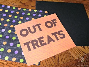 Out of Treats Sign 2