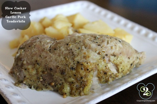 Slow Cooker Lemon Garlic Pork Tenderloin